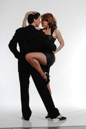 A couple dancing Argentine Tango